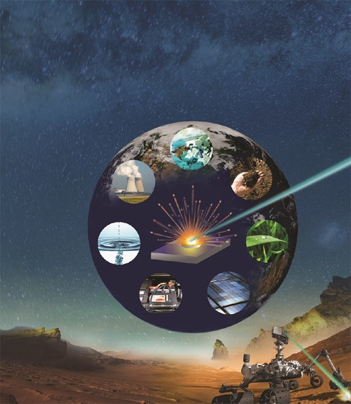 Laser ablation on Earth and Mars