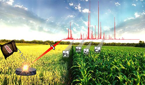 Laser ablation of fertilzer pellets graphic
