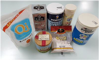 Commercially available salt products